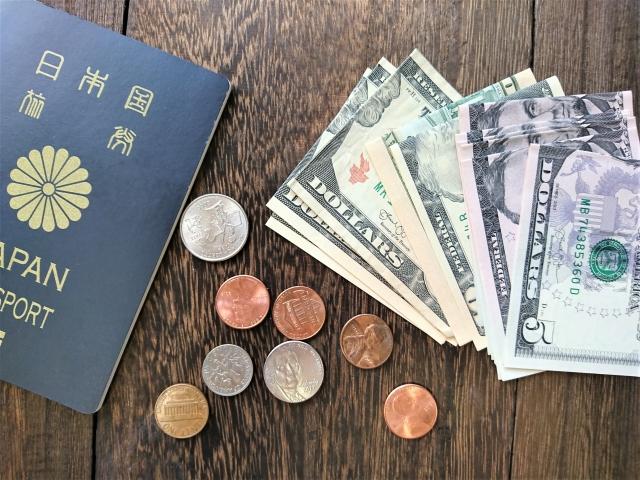 パスポートとドル
