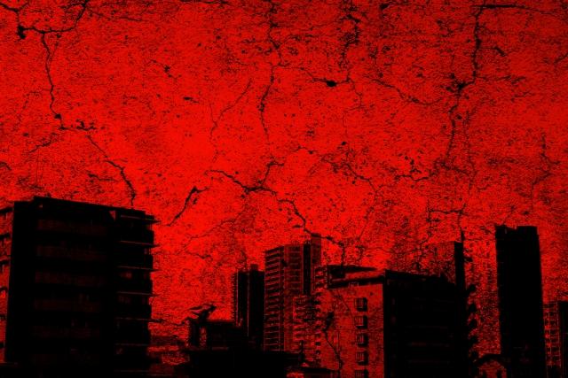 赤い街並み