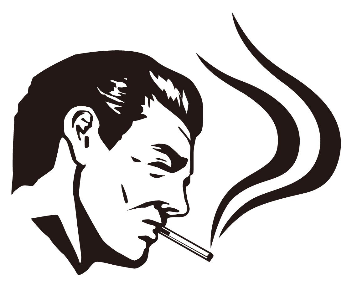 タバコを吸うダンディ