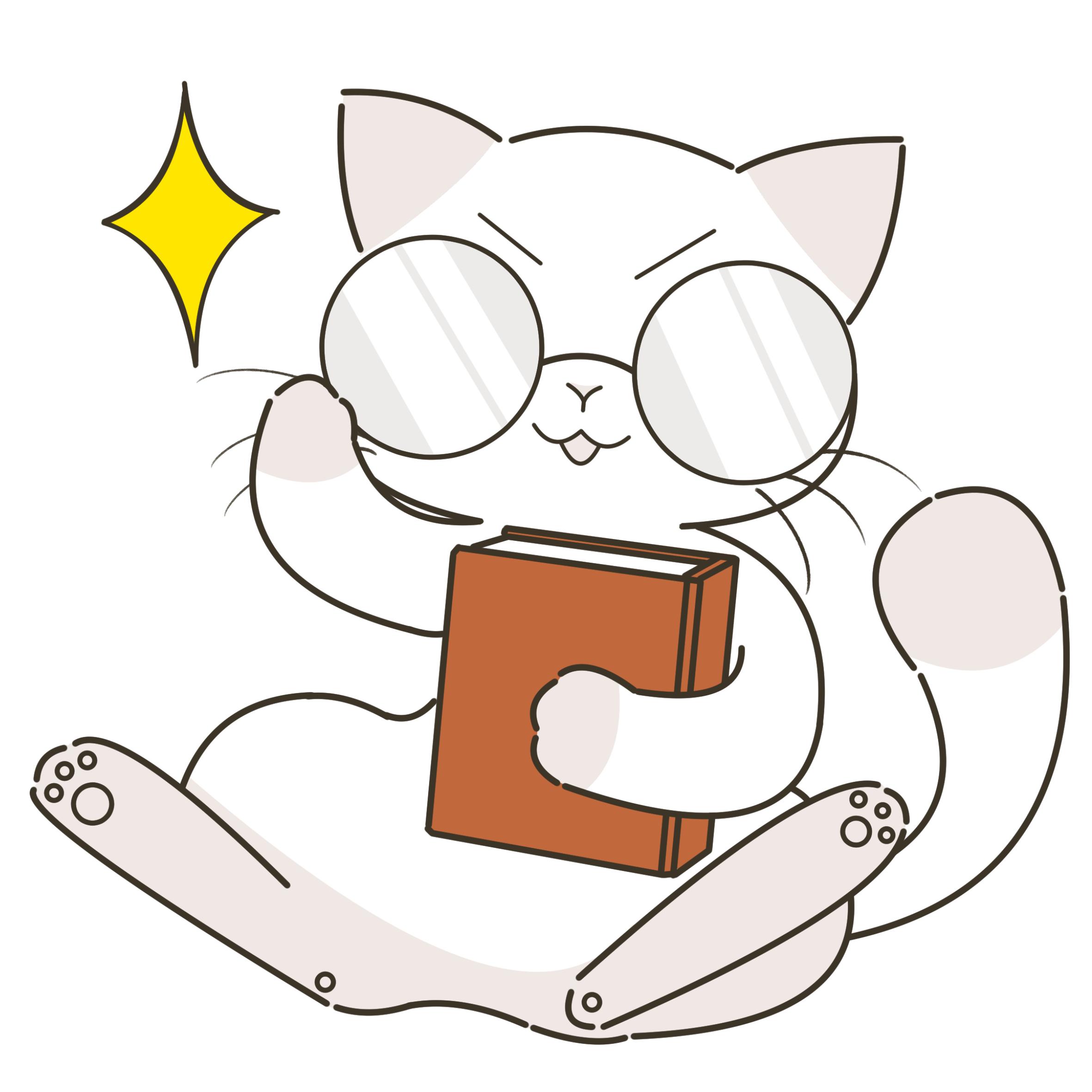 眼鏡をかける猫